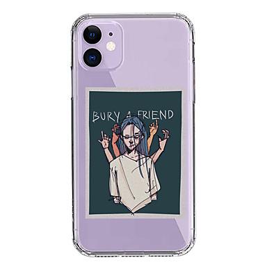 Недорогие Кейсы для iPhone-чехол для яблока iphone 11/11 pro / 11 pro max / xs / xr / xs max / 8 plus / 7 plus / 8/7/6 / 6s прозрачный рисунок плаката мультфильма Billie Eilish с защитой от падения задняя крышка soft pc + tpu