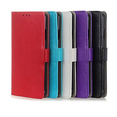 Недорогие Чехлы и кейсы для Sony-Кейс для Назначение Sony Sony Xperia 10 / Sony Xperia 1 II Бумажник для карт / Защита от удара Чехол Однотонный Кожа PU