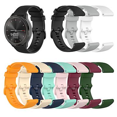 Недорогие Аксессуары для смарт-часов-спортивный силиконовый ремешок для часов ремешок для часов garmin vivoactive 4s / vivomove 3s / active s / ticwatch c2 сменный браслет браслет