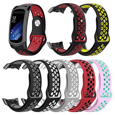 Недорогие Часы для Samsung-двухцветный силиконовый ремешок для samsung gear fit 2 pro / fit 2 замена спортивного ремешка браслет ремешок для часов для samsung gear fit 2 pro / fit 2
