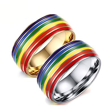 ieftine Costume, Accesorii & Bijuterii-Inel Curcubeu inox Pentru LGBT Pride Cosplay Bărbați Costum de bijuterii Bijuterii de moda / Inele