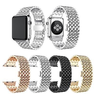 Недорогие Аксессуары для смарт-часов-Ремешок для часов для Apple Watch Series 5 / Серия Apple Watch 5/4/3/2/1 / Apple Watch Series 4 Apple Дизайн украшения / Бизнес группа Нержавеющая сталь Повязка на запястье