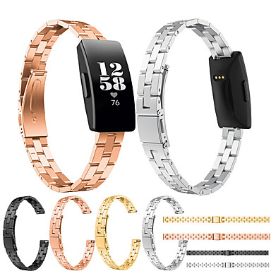 Недорогие Аксессуары для смарт-часов-Ремешок для часов для Fitbit Inspire HR / Fitbit Inspire Fitbit Классическая застежка / Современная застежка / Бизнес группа Нержавеющая сталь Повязка на запястье