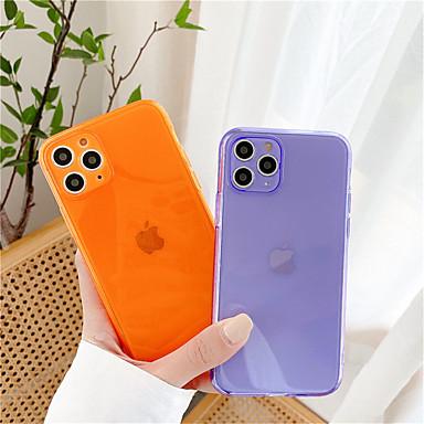 Недорогие Кейсы для iPhone-Флуоресцентный конфетный цветной защитный чехол для телефона для iphone se 2020/11 / 11pro / 11 pro max / x / xs / xr / xs max / 7 / 7plus / 8/8 plus прозрачный мягкий тпу задняя крышка capa