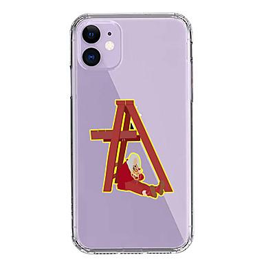 Недорогие Кейсы для iPhone-чехол для apple iphone 11/11 pro / 11 pro max / xs / xr / xs max / 8 plus / 7 plus / 8/7/6 / 6s прозрачный Billie Eilish красный узор с защитой от падения задняя крышка soft pc + tpu