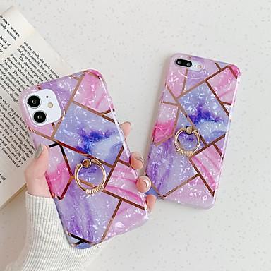 Недорогие Кейсы для iPhone-чехол для apple 11 11pro 11promax x xr xsmax сшитый гальваническим мрамором рисунок imd процесс матовый материал тпу кольцо телефон чехол lanxun
