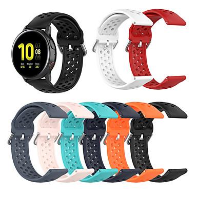 Недорогие Часы для Samsung-Ремешок для часов для Samsung Galaxy Watch 42 / Samsung Galaxy Active / Samsung Galaxy Watch Active Samsung Galaxy Спортивный ремешок / Классическая застежка / Современная застежка силиконовый