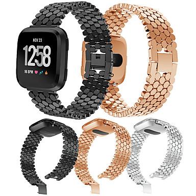Недорогие Аксессуары для смарт-часов-Ремешок для часов для Fitbit Versa / Fitbit Versa Lite / Fitbit Versa 2 Fitbit Спортивный ремешок / Классическая застежка / Современная застежка Нержавеющая сталь Повязка на запястье