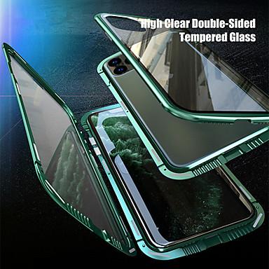 Недорогие Кейсы для iPhone-конфиденциальный магнитный чехол для iphone se2020 / 11 / x / xs / xr / xs max чехол антишпионское стекло двусторонний чехол для телефона 360-градусный защитный магнит чехол для iphone11pro / 11pro ma