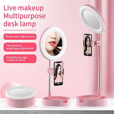 ieftine Cameră Mobil Atașare-fotografie pliantă cu inel pliabil led led selfie annular lampă studio studio foto cu clip pentru youtube tik tok video lampă în flux live