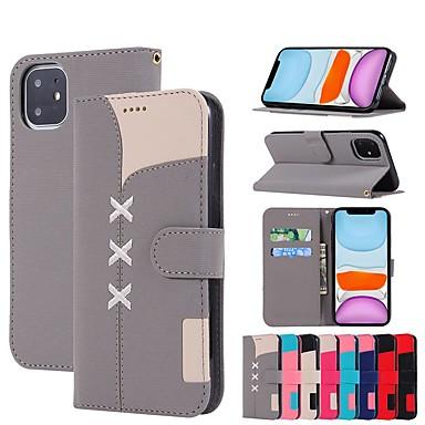 Недорогие Кейсы для iPhone-чехол для apple iphone se 2020 / iphone 11 pro / iphone 11 pro max кошелек / визитница / с подставкой для чехлов для тела плитка из искусственной кожи для iphone xr / xs max / x / 7/8 plus / 6 / 6s