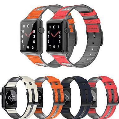 Недорогие Аксессуары для смарт-часов-для apple watch series 5 4 3 2 1 кожаный силиконовый браслет спортивный ремешок аксессуары замена браслет для iwatch 38мм 42мм 40мм 44мм