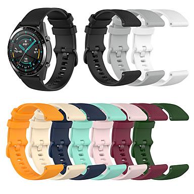 Недорогие Аксессуары для смарт-часов-спортивный силиконовый ремешок для часов ремешок для часов для samsung galaxy 46 мм / gear s3 classic / frontier / garmin chronos сменный браслет браслет