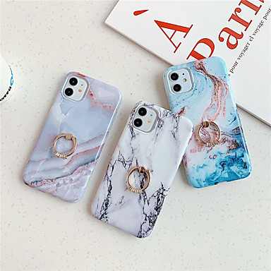 Недорогие Кейсы для iPhone-чехол для карты сцены яблока iphone 11 11 pro 11 pro max x xs xr xs max 8 разноцветный мраморный узор из тонкого матового материала тпу imd технологический кронштейн для кольца универсальный чехол для