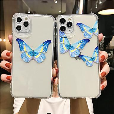 Недорогие Кейсы для iPhone-чехол для яблока для iphone7 8 7 плюс 8 плюс xr xs xsmax x se 11 11pro 11promax прозрачный рисунок задняя крышка бабочка тпу