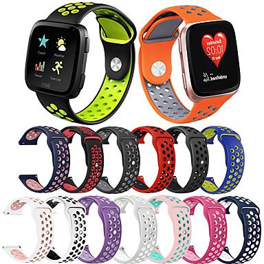Недорогие Аксессуары для смарт-часов-спортивный силиконовый ремешок для часов ремешок на руку для fitbit versa 2 / versa lite / versa сменный браслет-браслет