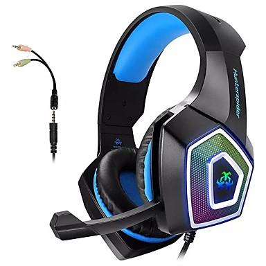 Недорогие Наушники для геймеров-Гарнитура Bass с двумя ушными каналами hunterspider v1 для наушников с микрофоном Разъем 3,5 мм для интеллектуальных аудио игровых устройств для ПК и PS4