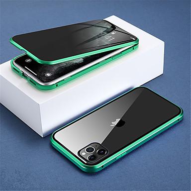 Недорогие Кейсы для iPhone-магнитный защитный стеклянный чехол для iphone se 2020/11 / x / sx / xr / xs max чехол антишпион 360 защитный магнитный чехол для iphone 11pro / 11pro max / 8plus / 8 / 7plus / 7 / 6s / 6splus / 6 /