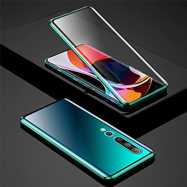 Недорогие Чехлы и кейсы для Xiaomi-двухсторонний магнитный чехол для xiaomi xiaomi mi 10 / xiaomi mi 10pro противоударный / пыленепроницаемый чехол для всего тела прозрачное закаленное стекло / металл