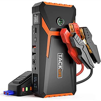 Недорогие Аварийные инструменты-tacklife t8 12 В 800 с максимальной скоростью 18000 мАч для автомобильного прыжка (до 6,5 л на бензине или 5,5 л на дизельном двигателе) с автоматическим подзарядкой аккумуляторной батареи Портативный