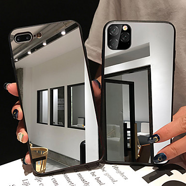 Недорогие Кейсы для iPhone-iphone11pro Макс зеркальное зеркало чехол для мобильного телефона XS Max может сделать макияж зеркало очень свежим 6/7 / 8plus / se2020 защитный чехол