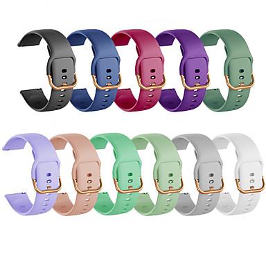 Недорогие Часы для Samsung-Ремешок для часов для Samsung Galaxy Watch 42 / Samsung Galaxy Watch Active 2 Samsung Galaxy Спортивный ремешок силиконовый Повязка на запястье