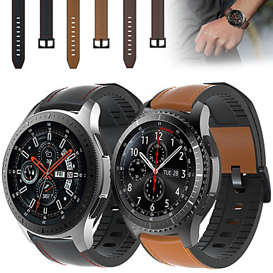 Недорогие Часы для Samsung-кожаный силиконовый ремешок для часов ремешок на запястье для samsung galaxy watch 46mm / gear s3 classic / s3 frontier сменный браслет браслет