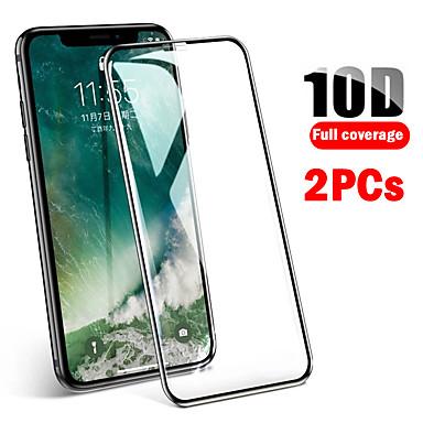 Недорогие Защитные плёнки для экрана iPhone-2шт 10d полное покрытие из защищенных от падения iphone11 xs max xs xr x 8 7 6 закаленная пленка