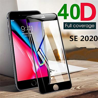 Недорогие Защитные плёнки для экрана iPhone-Защитная пленка для Apple Iphone SE 2020 полностью закаленное стекло Защитная пленка для экрана высокой четкости (HD) / твердость 9ч