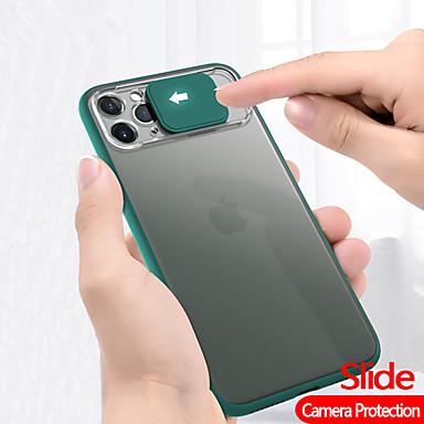 Недорогие Кейсы для iPhone-чехол для телефона чехол для телефона Apple iphone 11 pro max se 2020 xs max xr x 8 плюс 7 плюс 6 плюс полупрозрачная матовая задняя крышка жесткого диска для iphone se 2020 soft tpu edge защита