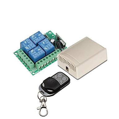 お買い得  Arduino 用アクセサリー-433MHzワイヤレスリモートコントロールスイッチDC 12V 4CHリレーレシーバーおよびトランスミッター