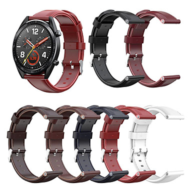 abordables Correas para Huawei-correa de pulsera de cuero retro para huawei watch gt 2 46mm / 42mm / honor magic / magic 2 46mm / 42mm / gt active / watch 2 pro / pulsera de pulsera reemplazable clásica