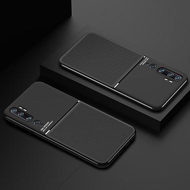 Недорогие Чехлы и кейсы для Xiaomi-чехол для xiaomi xiaomi redmi 10/10 pro / cc9 pro / cc9e / cc9 / 9se / 9 / k20 / k20 pro / k30 / k30 pro / note 8 / note 8 pro / note 8t противоударная задняя крышка однотонная искусственная кожа /