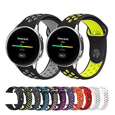Недорогие Аксессуары для смарт-часов-Ремешок для часов для Samsung Galaxy Watch 42 / Samsung Galaxy Active / Samsung Galaxy Watch Active Samsung Galaxy Спортивный ремешок / Классическая застежка / Современная застежка силиконовый