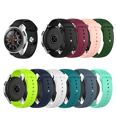 Недорогие Часы для Samsung-Ремешок для часов для Samsung Galaxy Watch 46 / Huawei Watch GT 2e Samsung Galaxy / Huawei Спортивный ремешок / Классическая застежка / Бизнес группа силиконовый Повязка на запястье