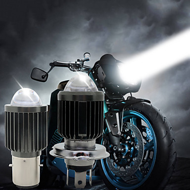 Недорогие Фары для мотоциклов-1шт 30Вт ba20d h4 белый&усилитель; Желтый цвет светодиодные фары мотоцикла h6 скутер мотоцикл фара лампочка аксессуары 12-80 В