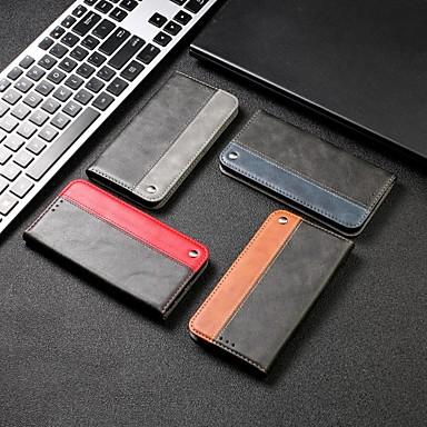 Недорогие Чехлы и кейсы для Xiaomi-чехол для xiaomi графика сцены redmi note 8 примечание 8 pro note 8t сплошной цвет бизнес шить сильная магнитная карта держатель карты все включено анти-падение чехол для мобильного телефона rx