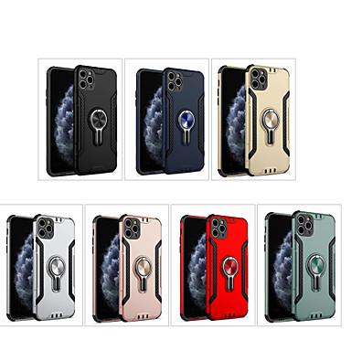 Недорогие Кейсы для iPhone-Кейс для Назначение Apple iPhone 11 / iPhone 11 Pro / iPhone 11 Pro Max Защита от удара / Кольца-держатели Кейс на заднюю панель Однотонный пластик