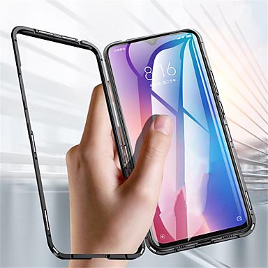 Недорогие Чехлы и кейсы для Xiaomi-односторонний магнитный чехол для телефона xiaomi redmi note 9 pro / redmi note 9 pro max / redmi note 9s полупрозрачная задняя крышка из сплошного цветного закаленного стекла / из металла