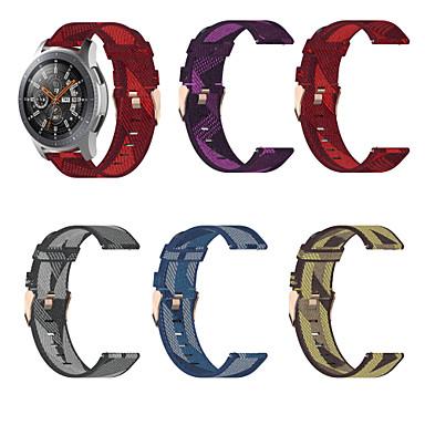 Недорогие Часы для Samsung-Ремешок для часов для Samsung Galaxy Watch 42 / Samsung Galaxy Watch Active 2 / Huawei Watch GT2 42mm Samsung Galaxy Спортивный ремешок / Классическая застежка Нейлон Повязка на запястье