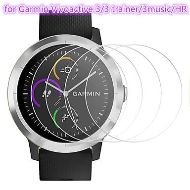 Недорогие Защитные пленки для смарт-часов-5 шт протектор экрана для garmin vivoactive 3/3 тренажер / 3 музыки / час закаленное стекло прозрачное высокое разрешение (hd) царапинам / твердость 9 ч