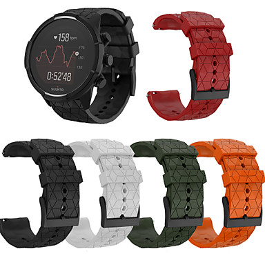 Недорогие Аксессуары для смарт-часов-Ремешок для часов для SUUNTO 9 / SUUNTO Spartan Sport / Suunto Spartan Sport Wrist HR Baro Suunto Спортивный ремешок силиконовый Повязка на запястье