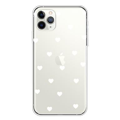 Недорогие Кейсы для iPhone-чехол для apple iphone 11/11 pro / 11 pro max / xs / xr / xs max / 8 plus / 7 plus / 6s plus / 8/7/6 / 6s / se / 5 / 5s прозрачная задняя крышка love heart soft tpu