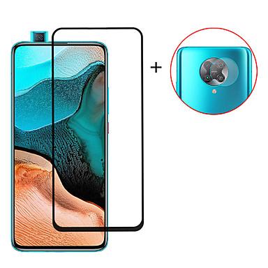 Недорогие Защитные плёнки для экранов Xiaomi-2 в 1 полное покрытие 9h закаленное стекло для xiaomi poco f2 pro poco x2 mi 10 lite 10x 10x pro k30i k30pro zoom note 9 9s 9pro 9pro max защитная пленка для экрана