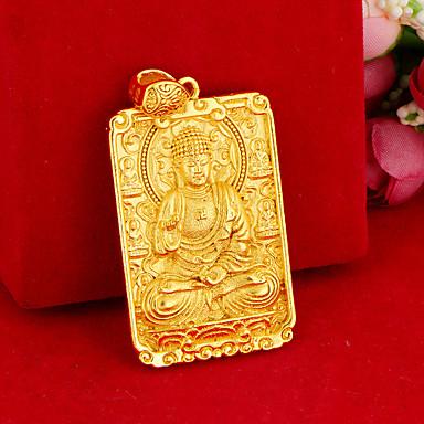 Недорогие Ожерелья-Муж. Ожерелья с подвесками Будда азиатский Уникальный дизайн Этнический Медь Золотой 0 cm Ожерелье Бижутерия Назначение