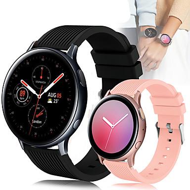 Недорогие Часы для Samsung-Спортивный силиконовый ремешок для часов ремешок для часов для Samsung Galaxy Часы 42мм / Galaxy Смотреть активные 2 / Активные R500 / Gear S2 Classic / Gear Спортивный сменный браслет браслет
