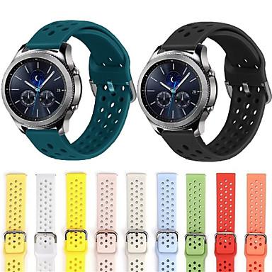 Недорогие Часы для Samsung-20мм 22мм силиконовая лента для huawei / withings / samsung galaxy / gear s3 / amazfit bip умные часы сменные ремешки для браслетов