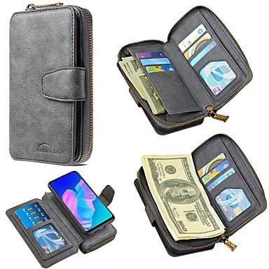 Недорогие Кейсы для iPhone-чехол для apple iphone 11 / iphone 11 pro / iphone 11 pro max кошелек / держатель для карты / с подставкой для всего тела чехлы из натуральной кожи pu для iphone se 2020 / xs max / xr / 7/8 plus / 6 /
