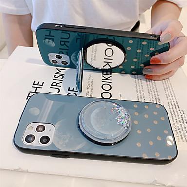 Недорогие Кейсы для iPhone-держатель для зеркала с проточной жидкостью из закаленного стекла Чехол для телефона в виде луны для яблока Чехол для iPhone 11 pro max x xr xs max 8 плюс 7 плюс 6 plus se (2020) кривая задняя крышка