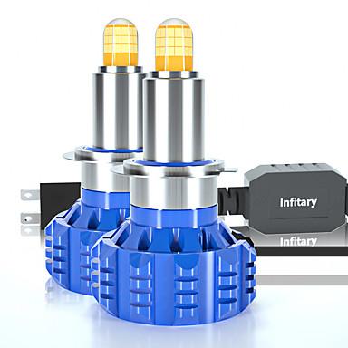 Недорогие Автомобильные фары-2шт 360 градусов светодиодные фары автомобиля h1 h3 h7 h11 9005 9006 9-100 В широкий напряжение 72 Вт высокой мощности для грузовых автомобилей и автомобилей